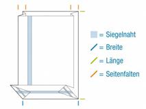 Blockbodenbeutel aus OPP Material, hochtransparent - 50my extra stark