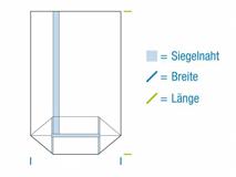 Kreuzbodenbeutel aus OPP Material, hochtransparent - 30my - unbedruckt