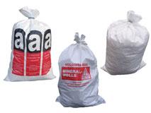 Bändchengewebesäcke - Mineralwollsäcke für Entsorgungs- / Transportzwecke