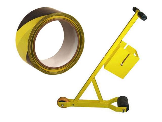 Markierungsband für Böden und Abrollwagen