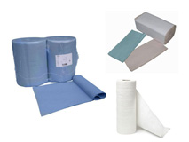 Papierhandtücher - Feuchttücher - Putzpapierrollen - Putzlappen - Mikrofasertücher