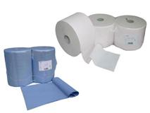 Industriepapierrollen - Putzlappen – Mikrofasertücher - Glaspoliertuch – Bodentuch