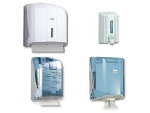 Spender und Abroller für Papierhandtücher und Industriepapierrollen bzw. Putzpapierrollen