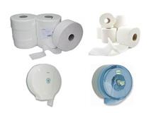 WC-Papier und WC-Papierspender