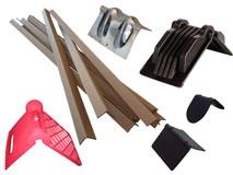 Kantenschutz aus Pappe, Kunststoff und Metall