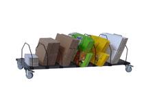 Kartoncaddy für Faltschachteln – ohne Transportgriff
