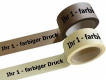 Papier Packband bedruckt - 1-farbig