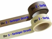 Papier Packband bedruckt - 2-farbig