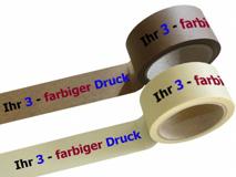 Papier Packband bedruckt - 3-farbig