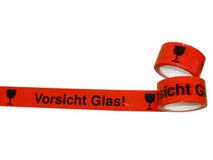PP-Packband mit Druck Vorsicht Glas