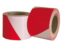 Flatterbänder rot-weiß gestreift - 75 mm breit
