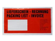 Dokumententaschen DIN Lang - Lieferschein / Rechnung