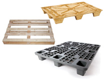 Einwegpaletten - INKA-Pressholzpaletten - Kunststoffpaletten