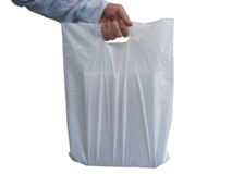 HDPE-Tragetaschen, weiß (Shopperbags) - 25my