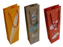 Tragetaschen aus Kraftpapier für Wein- und Sektflaschen