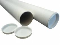Papphülsen mit Kunststoffdeckeln - 870/840x70x1,7mm - A0
