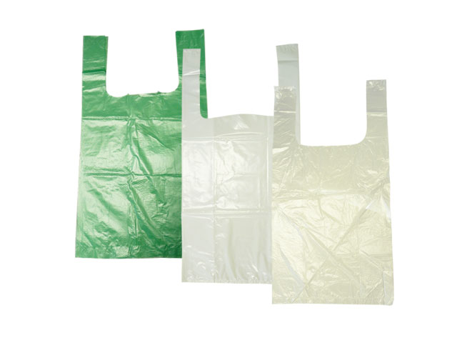 HDPE-Tragetaschen, weiß (Shopperbags) - 40my