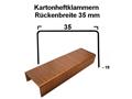 Heftklammer 35x18 mm (TYP B 3/4) - verkupfert für Kartonverschlusshefter manuell- u. pneumatisch