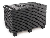 Kunststoffpaletten aus Polyolefin, uv-stabil - wetterbeständig 800x1200 mm