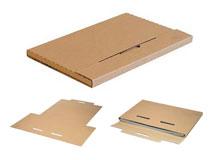 Kalenderverpackung - braun - aus stabiler Wellpappe