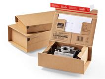 Paket Versandkarton aus Wellpappe ColomPac CP 066 - CP 067