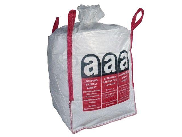 asbest big bags wei 90x90x110 cm 1000 kg faltschachteln folienbeutel packband. Black Bedroom Furniture Sets. Home Design Ideas