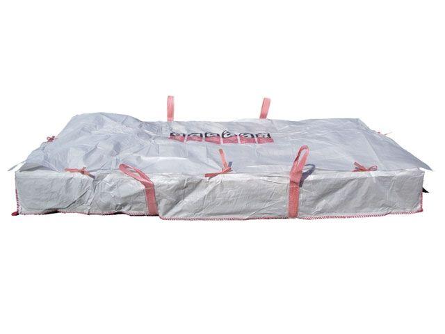 Asbest-Platten-Bags,weiß - 260x125x30 cm - 1500 Kg
