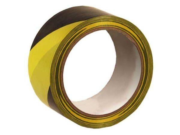 Markierungsband für Böden - selbstklebend - schwarz/gelb - 50mmx33m