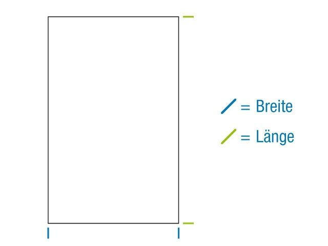 Flachbeutel aus PP Material, hochtransparent 80x110 mm - 40my - mit Seitennaht