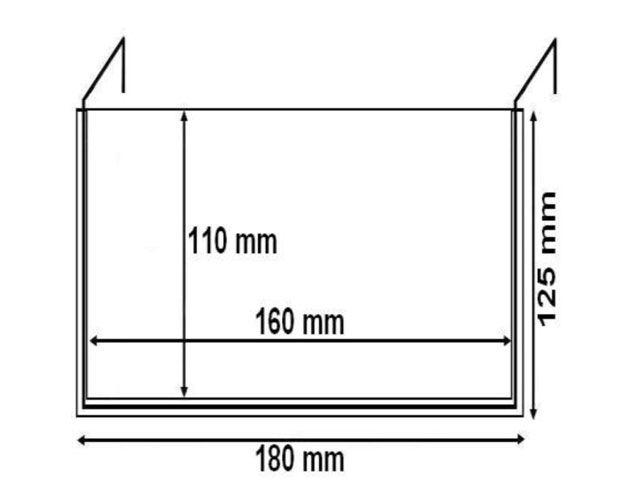 Drahtbügeltasche A6 mit Federstahlbügel mit Klappe - für Holzaufsatzrahmen u. Lagerkästen