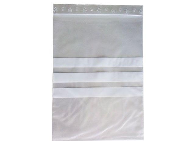 Kängurubeutel, transparent - mit Zusatztasche und Beschriftungsfeld - 180x250/240 mm