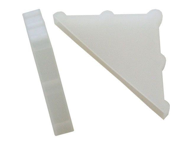 Eckenschutz-Taschen aus PE - 4mm breit / 47mm Schenkellänge