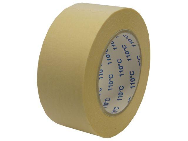 Abdeckband für Autolackierer - 50mmx50m - bis 110° Celsius (Papierabdeckband Krepp 201 - weiss)