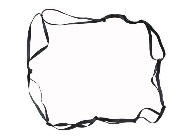 Gummispannband 2400x16x2 mm, schwarz