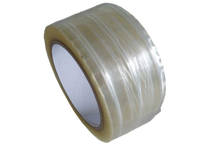 fadenverstärktes PP-Packband, transparent - 50mmx66m - 28 my Folienstärke + Hotmeltklebstoff - Pack-Film 871