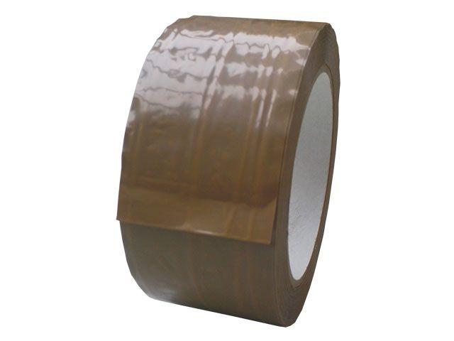 fadenverstärktes PVC-Packband, braun - 50mmx66m - 35 my Folienstärke + Natutkautschkklebstoff - Pack-Film 868