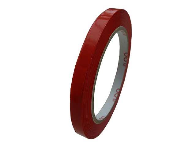 PVC-Packband, rot - 9mmx66m - 33 my Folienstärke + Naturkautschukklebstoff - Pack-Film 866