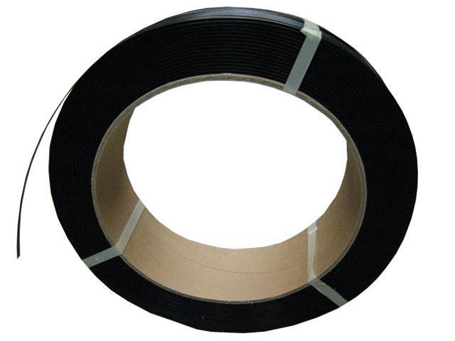 Umreifungsbänder, schwarz aus PP - 12,7x0,75mmx2000m - Kerninnendurchmesser 406 mm - Reißkraft 200 Kg