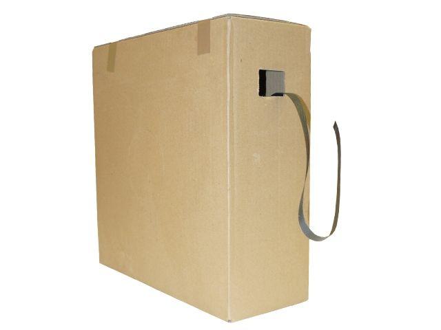 Umreifungsbänder im Spendekarton, schwarz aus PP - 12x0,45mmx1000m Reißkraft 120 Kg