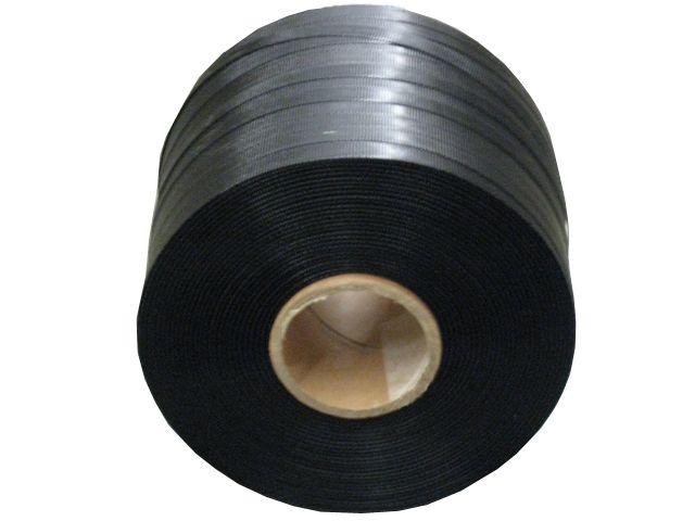 Umreifungsbänder, schwarz aus PP - 12x0,55mmx600m - Kerninnendurchmesser 62 mm - Reißkraft 150 Kg