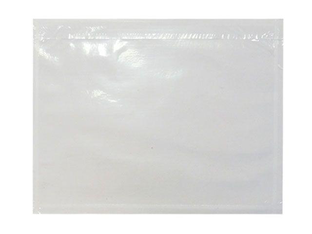 Dokumententaschen, blanco/transparent - DIN C4 - 320x250 mm