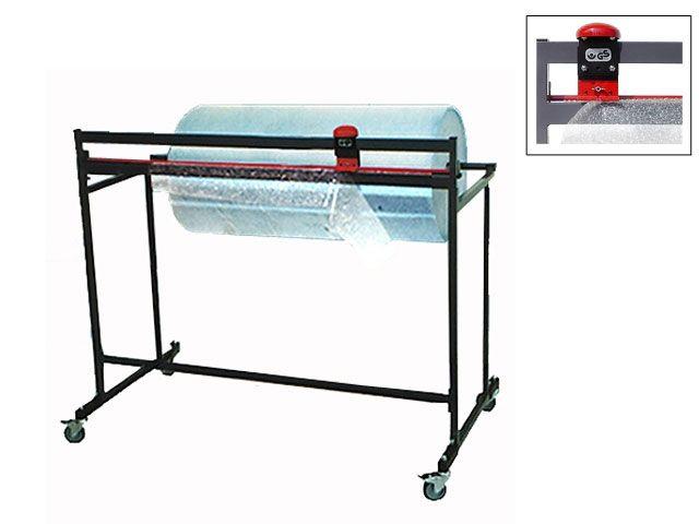 Schneidständer bis 100 cm Rollenbreite für Packpapier oder Luftpolsterfolie - fahrbar