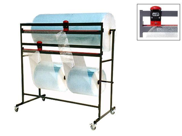 Doppelschneidständer bis 125 cm für Luftpolsterfolie und Folienrollen - fahrbar