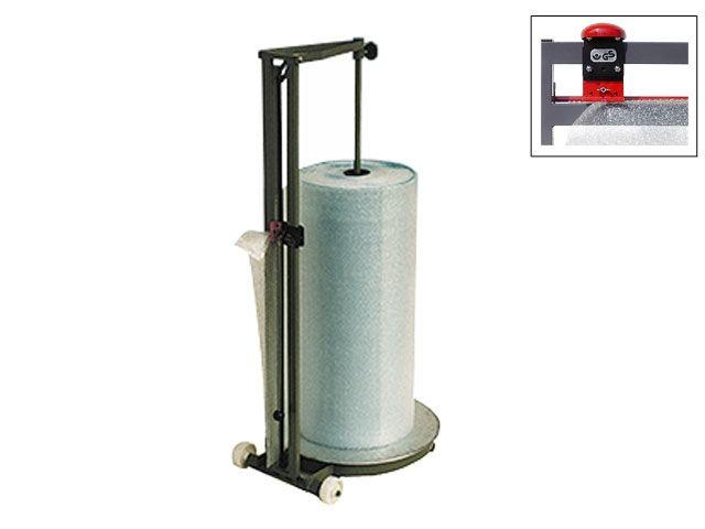 Senkrechtschneidständer bis 125 cm Rollenbreite für Luftpolsterfolie - fahrbar
