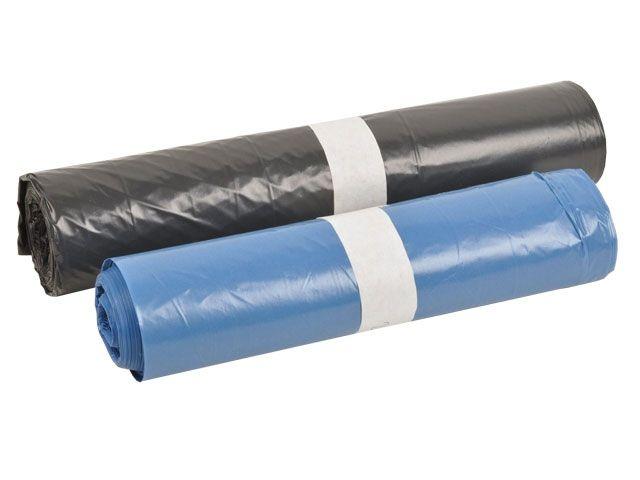 Abfallsäcke aus LDPE, blau - 140 Liter - Typ 70 - 800x1000 mm