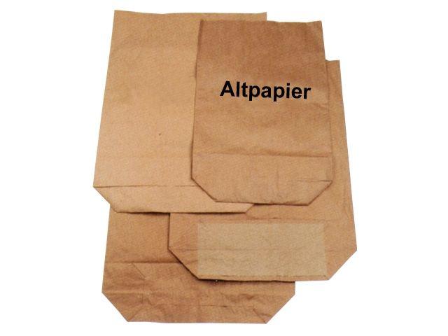 Abfallbeutel aus Papier, braun - Aufdruck Altpapier - 120 Liter - 700x950+220 mm