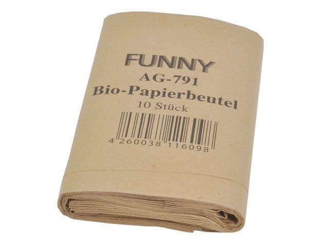 Abfallbeutel aus Papier, braun - 200/170x360 mm