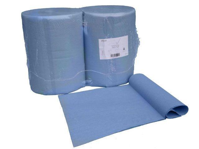 Industriepapierrollen, blau - 2-lagig