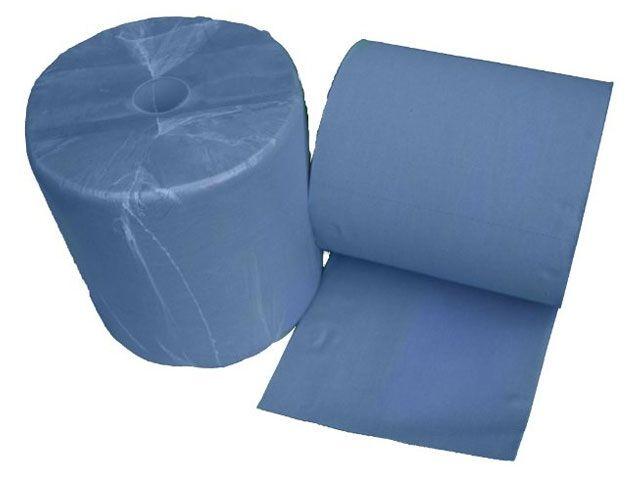 Industriepapierrollen, blau - 3-lagig