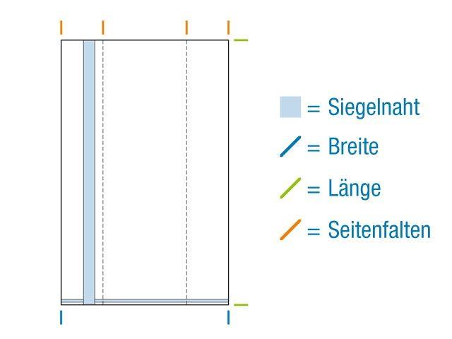 Seitenfaltenbeutel aus OPP Material, hochtransparent 100+50x300 mm